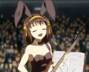 Haruhi God Knows Bunny Girl