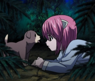 Elfen Lied child Lucy flashback episode 8