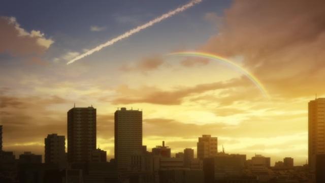 Erased sunset