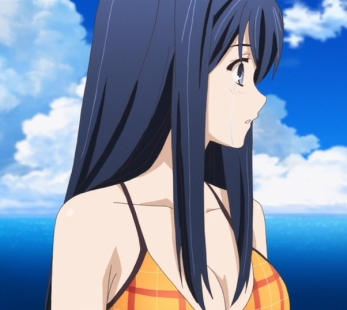 Brynhildr in the Darkness Neko Kuroha Kuroneko beach bikini