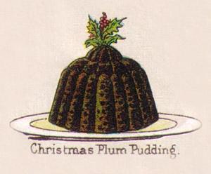 Mrs Beeton 1890s Christmas Plum Pudding illustration