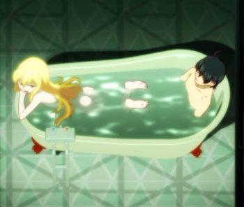Nisemonogatari Shinobu Fanservice Bath Scene Episode 4 Image 3